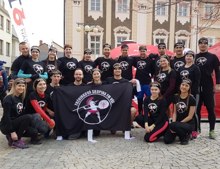 Tréninková skupina Fakulty managementu na Spartan Race v Kutné Hoře