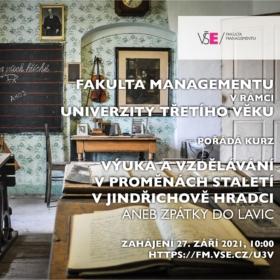 Kurz U3V – Výuka a vzdělávání v proměnách staletí v Jindřichově Hradci